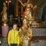 Русская народная живая статуя