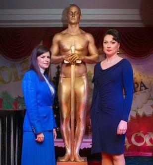 Живая статуя Оскар