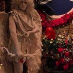 Живая скульптура Амур