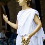 Живая статуя на праздник