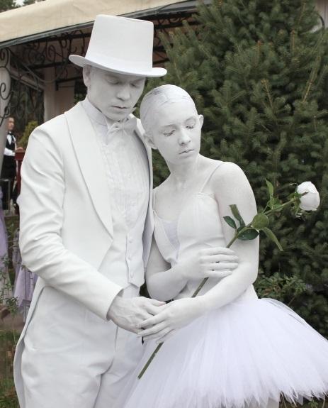 Живые статуи Балерина и Джентельмен