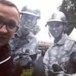 Живые статуи Строители серебряные