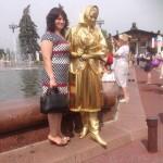 живая статуя красавица
