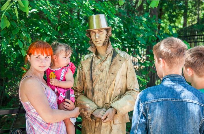 живая статуя Пушкин 1