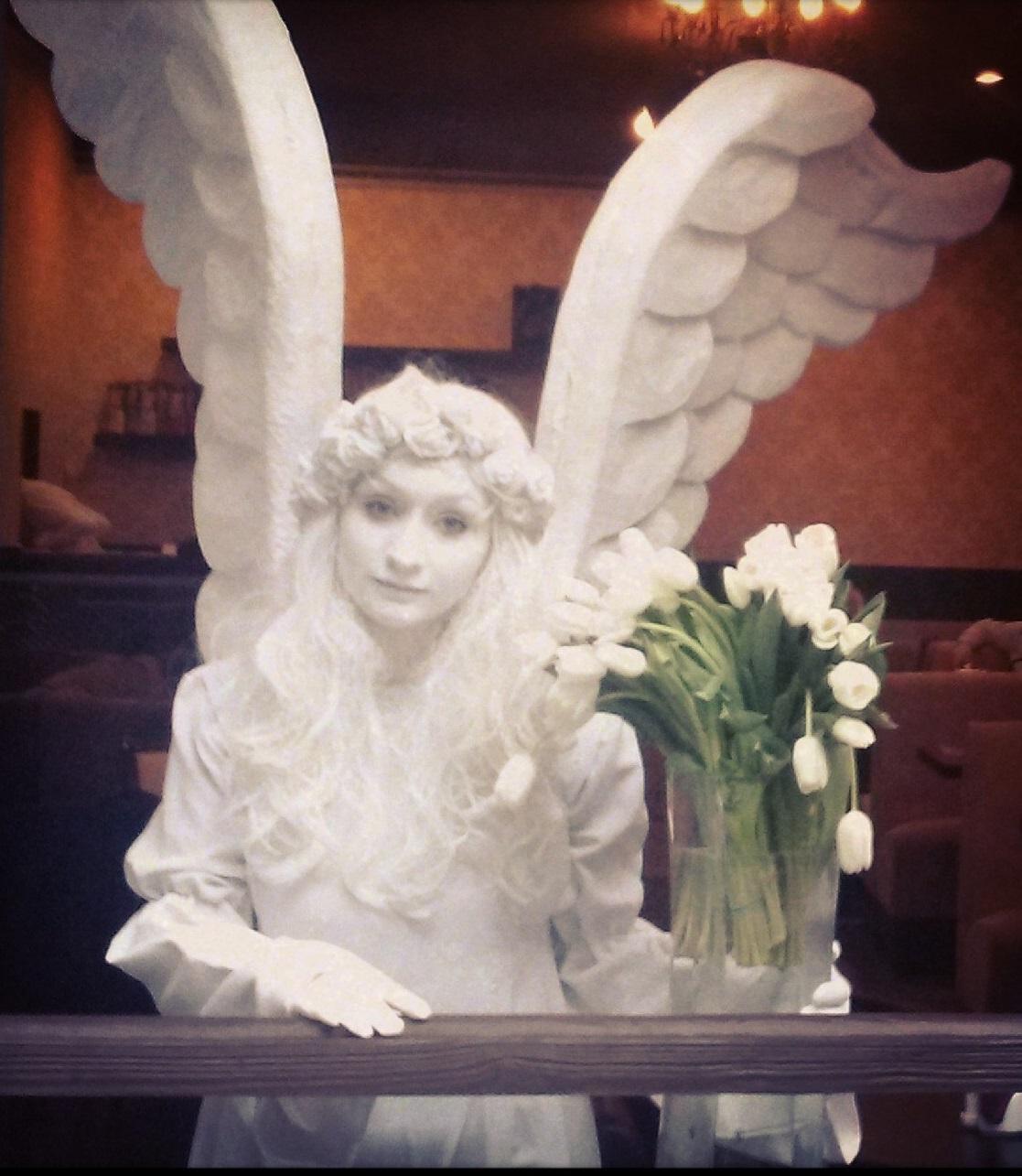 живая статуя ангел 3