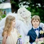 живая статуя ангел на свадьбу