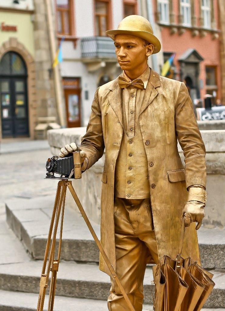живая статуя фотограф 1