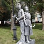 живая статуя рабочий и колхозница