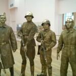 живые статуи военные 5