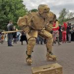 Живая статуя Хоккеист