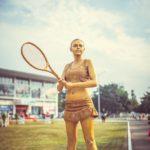 Живая статуя Теннис