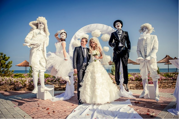живые статуи на свадьбу