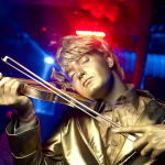 живые статуи скрипач